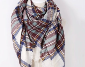 Plaid Blanket Scarf, Blanket Scarf Plaid, Blanket Scarf, Scarf Blanket, Womens Scarves, Christmas Gifts, For Her, For Mom, For Girlfriend