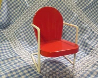 Vintage Salesman Sample Metal Lawn Chair