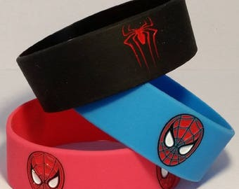 3 PC - The Amazing Spiderman Silicone Wristband Bracelets