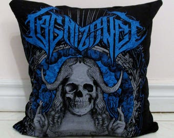 Cognizance Pillow DIY Death Metal Decor (Cover Only; Insert Available)