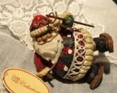 Resin Santa Ornament