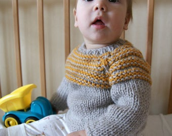 Hand Knit Baby Sweater, Baby Girl Sweater, Baby Boy Sweater, Baby Sweater Knit, Knit Sweater Baby, Baby Sweater