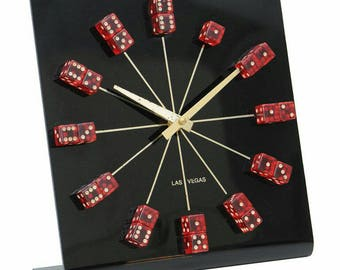 Swanky Las Vegas Dice Clock