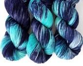 Sock Yarn Superwash Merino/Nylon 85/15 4ply Handdyed Yarn: POLLUX