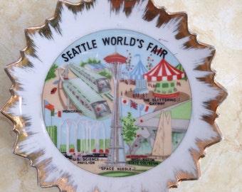 Vintage Seattle Worlds Fair Souvenir Plate