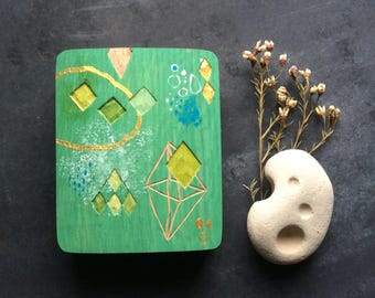 DIAMONDS, wood relief in oak