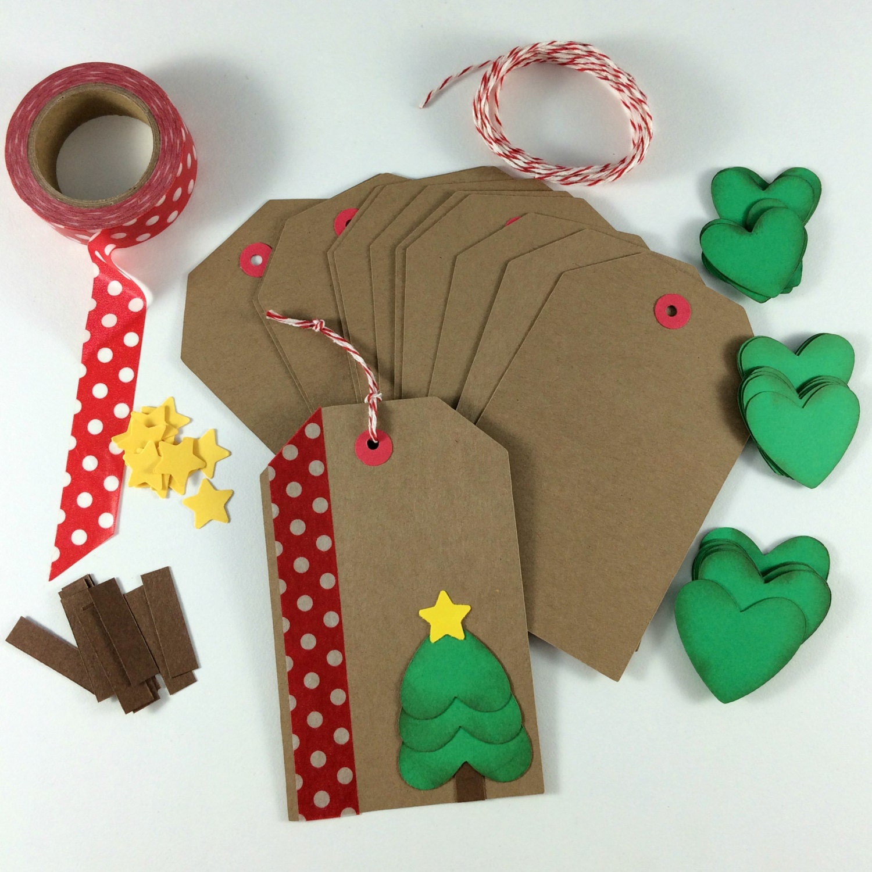 DIY Holiday Christmas Gift Tag Kit Makes 12