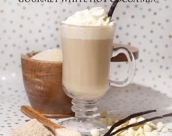 Vanilla Bean Gourmet White Hot Chocolate - Cocoa Mix - Organic - Artisan
