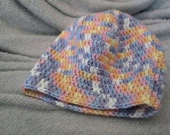 Slouchy Beanie in Easter Colors ON SALE