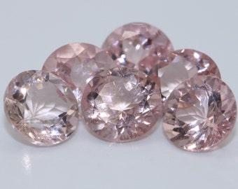 Lot of 30 Pink Morganite Stones, 6 mm Loose Morganite Stones, Pink High Quality Round Morganite Stones, Eye Clean Pink Natural Morganites