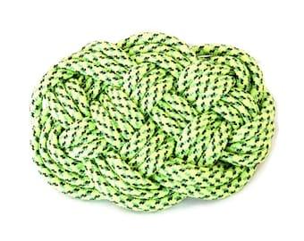 Green Barrette, Celtic Barrette, Hair Barrette, Nautical Barrette, Hair Clip, Knot Barrett, Hair Accessory, Boho Barrette, Ren Fair