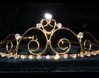 Style # 14698G - Royalty Affair Wire Tiara - Gold Plated