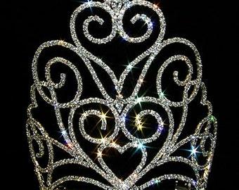 Style # 12558 Victorian Heart Crown Tiara - Medium