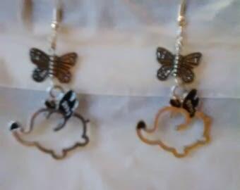 Flying Elephant Earrings