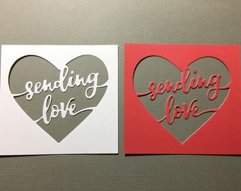 Sending Love Heart Diecut -- set of 2