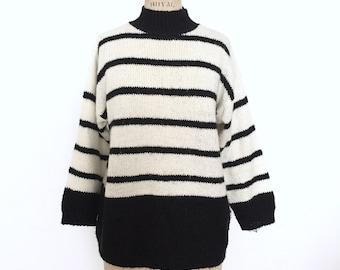 Vtg Diane Von Furstenberg DVF striped sweater sz M/L