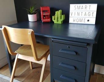 Super Original Vintage Wooden Abbess Childrens SCHOOL Desk & Chair - Courier