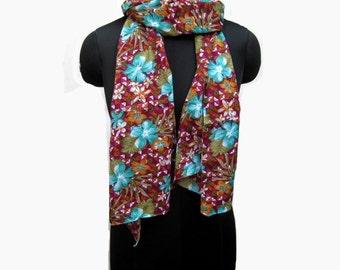 fashion scarf/ multicolored  scarf/ purple scarf/ cotton scarf/ floral scarf/ gift scarf / gift ideas.