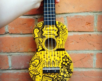 Customised Soprano Mahalo Ukulele
