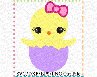Baby Chick Easter SVG Cutting File, chick svg, easter cut file, easter svg, chick cut file, chick egg svg, chick egg cut file easter egg svg