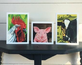 Greeting Card-Farm Animals