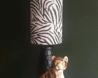 Stunning zebra print lampshade for a table lamp a real statement piece.