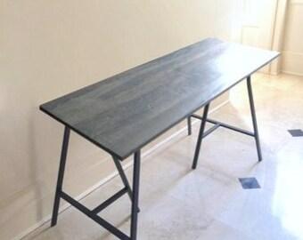 Long Narrow Desk Table On Ikea Legs Choose Any Size Free