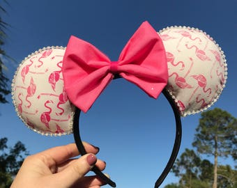 Flamingo Minnie Mouse Ears
