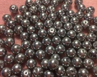 DESTASH 31 EA 8MM Pewter Pearls