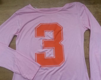 Mick Jagger Pink 3 Long Sleeve T-shirt Top The Rolling Stones Vintage Style 60s 70s Album LP Tour Vest 8 1971 Mr Freedom