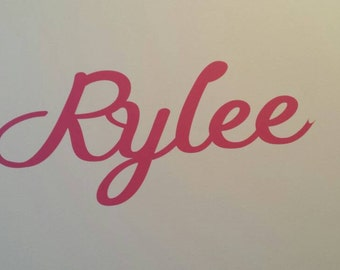Personalised name wall decal in 30cms long