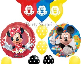 Mickey Mouse Minnie Mouse Balloon Package Mickey Mouse Party Minnie Mouse Party Decorations Kids Mouse Party Balloons