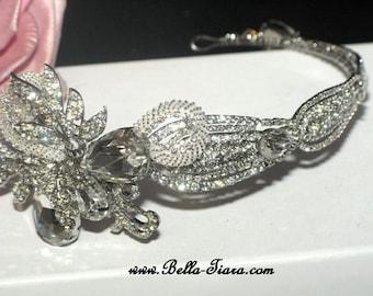 Swarovski crystal wedding headpiece, wedding headpiece, bridal crystal headband, bridal headpiece, crystal headband for wedding