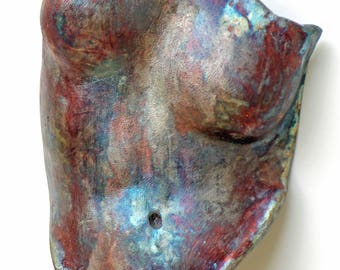 Original Raku Fired Female Torso