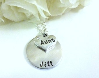 Aunt Gift Gift for Aunt Necklace Aunt Personalized Jewelry Aunt Gift Hand stamped Jewelry