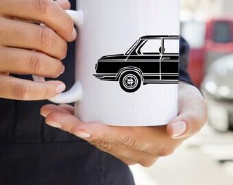 KillerBeeMoto: U.S. Made Coffee Mug  Limited Release Vintage German Engineered Sedan On Coffee Mug (White)