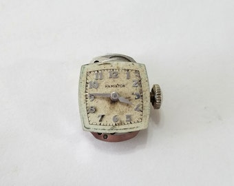 Vintage, Hamilton, Watch, Movement, Dial, Wrist Watch, Wristwatch, Parts, Steampunk, Altered Art, Beading, Jewelry, Supply, Supplies