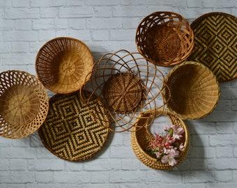 Vintage Basket Collection • Set of 8