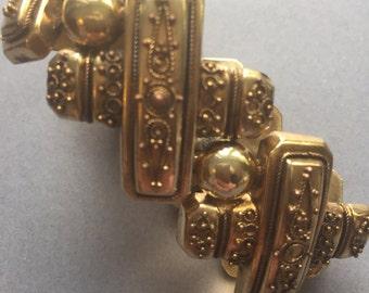 Victorian Gilt Etruscan Bracelet