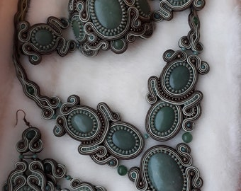 necklace, earrings and bracelet from a soutache will draw attention everywhere