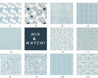 Spa Blue Pillow, Light Blue, Blue Gray, Floral, Pillowcase, Euro, Throw, Mix & Match, Pillows, Cushion, Toss, Floor, Bedroom, Dining