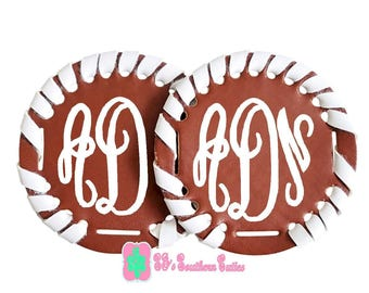 Monogrammed Brown/White Trimming Extra Disk for Disk Sandals