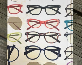 Vintage Glasses covered Journal