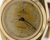 1940s Rolex 14K Bubble Back Wrist Watch