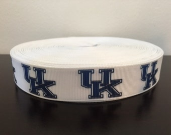 "1/3/5/7/10 Yards Kentucky 7/8"" Grosgrain Ribbon"