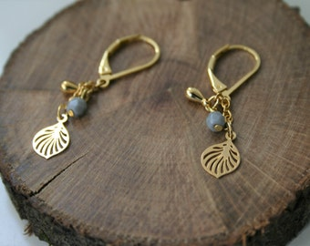 Delicate long gold plated earrings