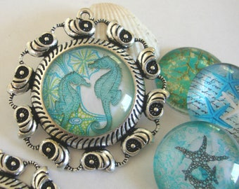 Sea Cabochon Base,Cameo Base,Nautical Base