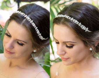Bridal Headband, Rhinestone Bridal Headpiece, Wedding Headpiece, Wedding Headband, Bridal Hair Accessories, Wedding Hair H5W