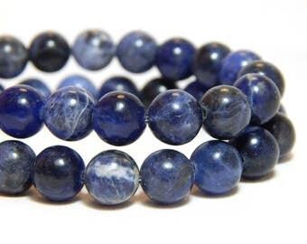 8mm Sodalite, 8mm Blue Beads, Sodalite Beads, Blue Beads, Blue Sodalite, Blue Gemstones, Sodalite Gemstone Beads, Blue Round Beads, B-1C