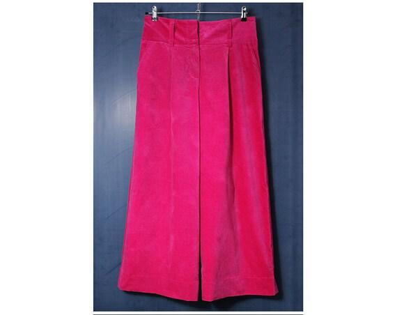 Vintage Vivienne Westwood Pink Valour Wide Leg Trousers UK12-14